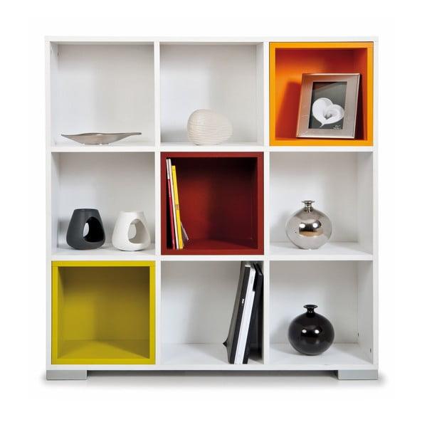 Knižnica Domino, biele a farebné boxy