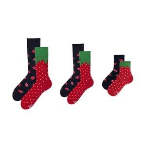 Rodinná sada 3 párov ponožiek v darčekovom balení Many Mornings Strawberry Grand