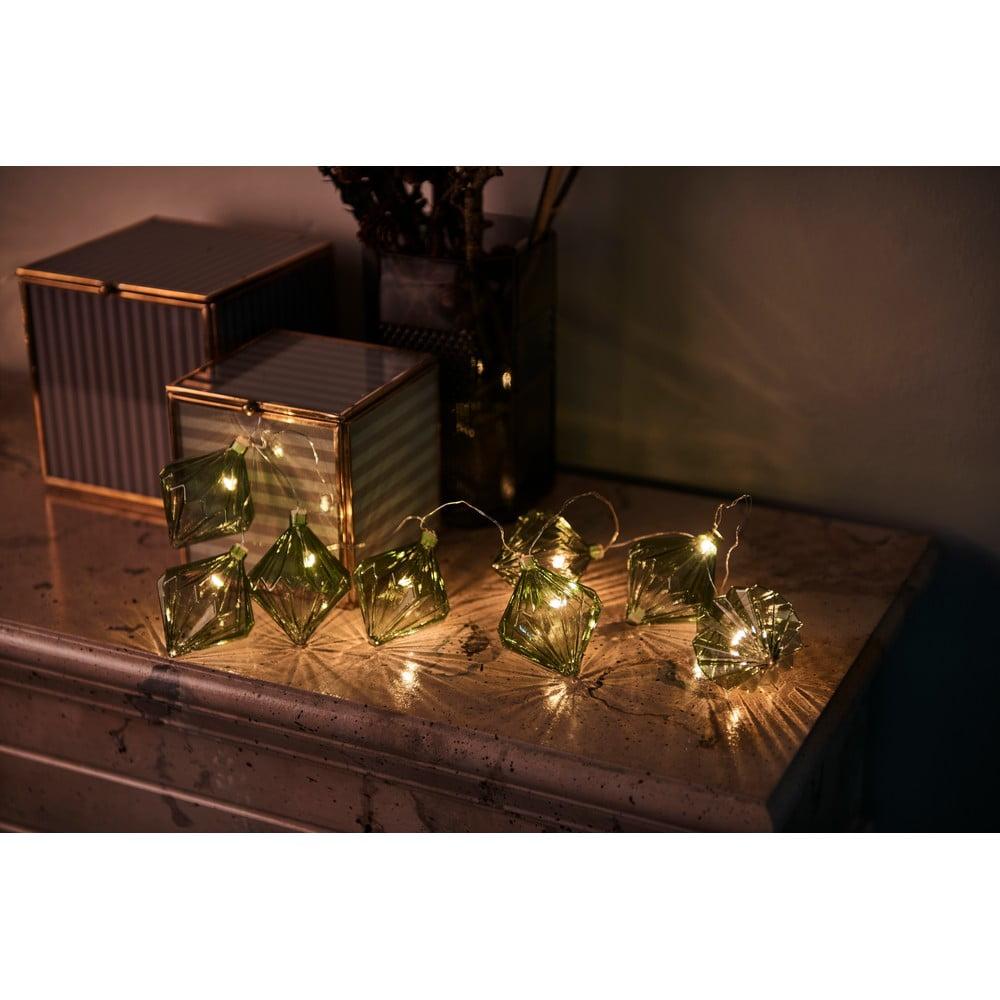 Svetelná LED reťaz Sirius Nellie Green, dĺžka 180 cm
