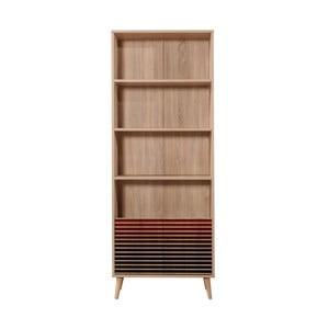 Knižnica Booki Red Classic, 198×75 cm