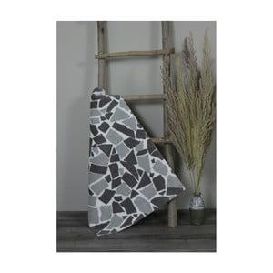 Sivo-čierna bavlnená kúpeľnová predložka My Home Plus Mosaic, 51×76 cm