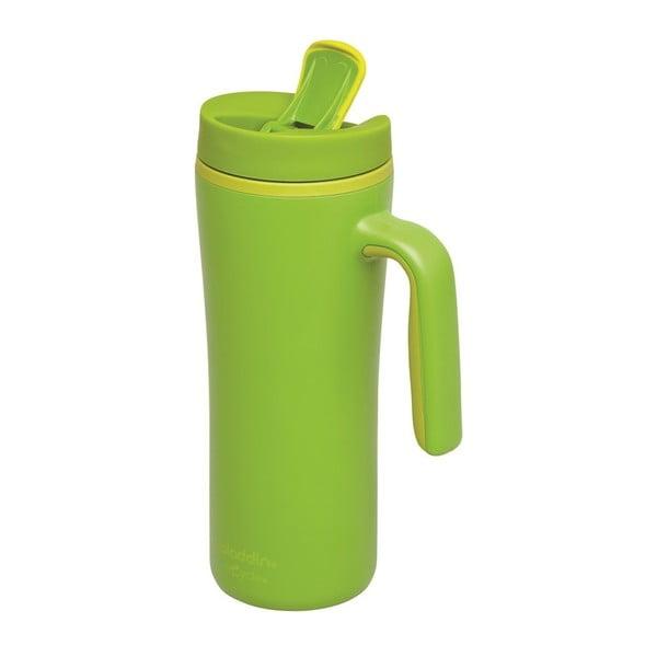 Zelený termohrnček s uchom Aladdin Flip-Seal ™, 350ml