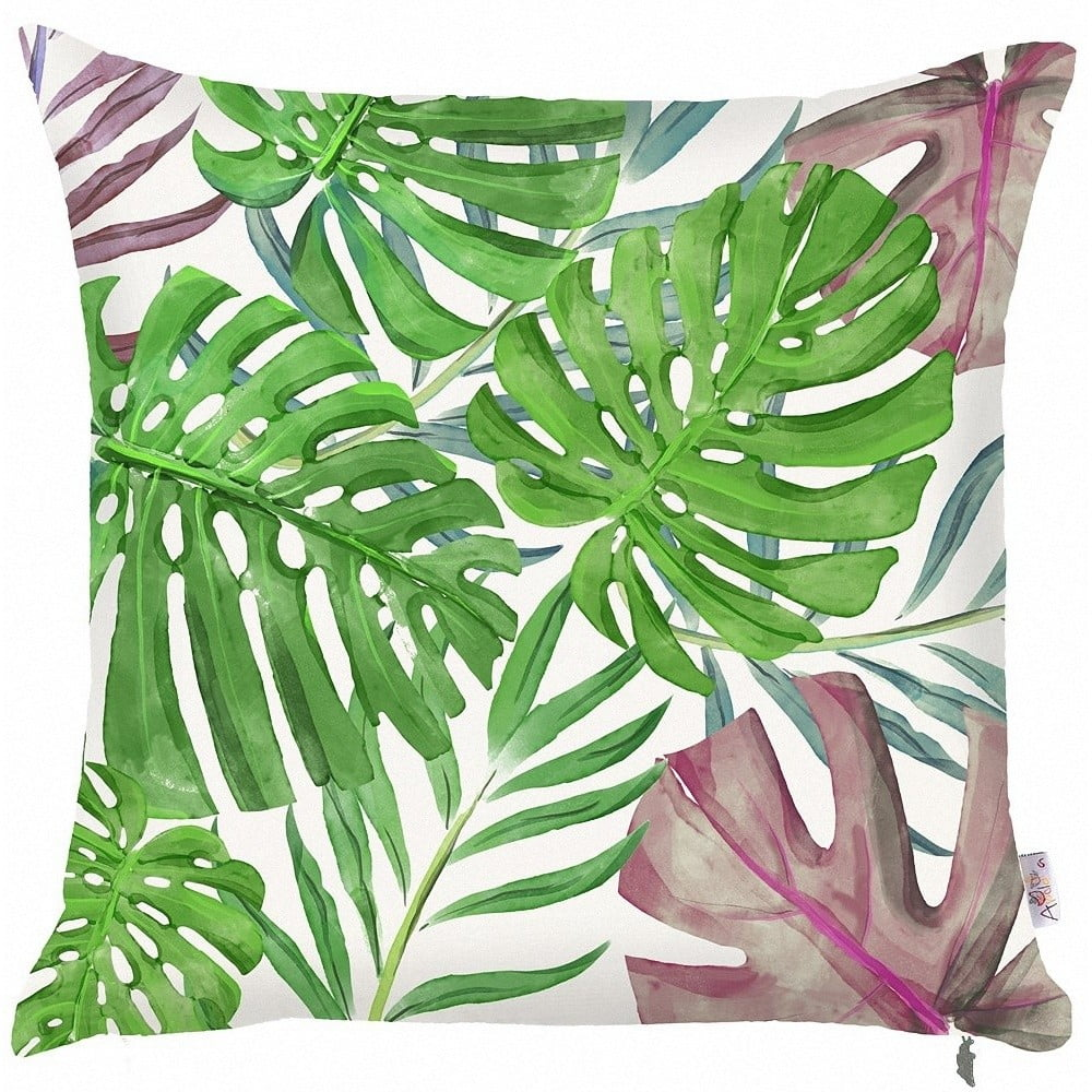 Zelená obliečka na vankúš Mike & Co. NEW YORK Monstera Heaven, 43 × 43 cm