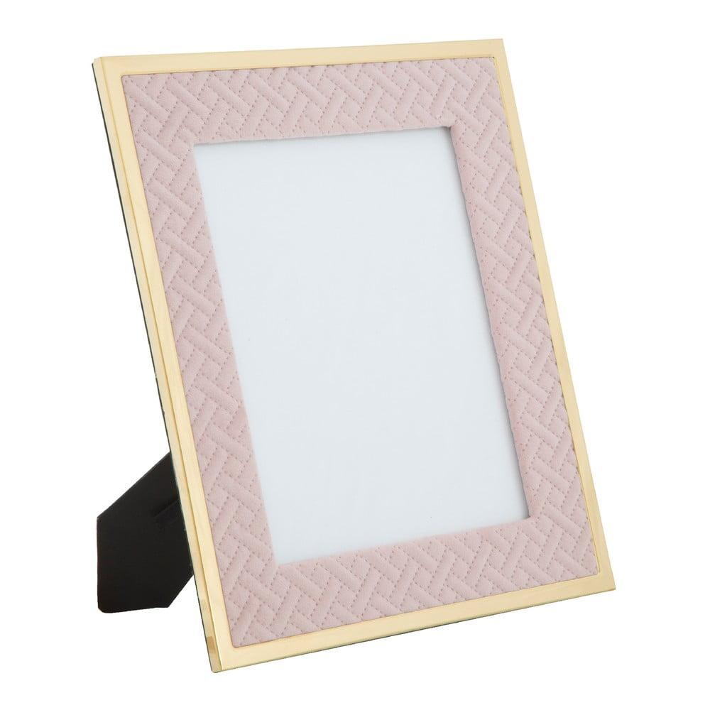 Stolový fotorámik v ružovej farbe Mauro Ferretti Glam, 20 × 25 cm