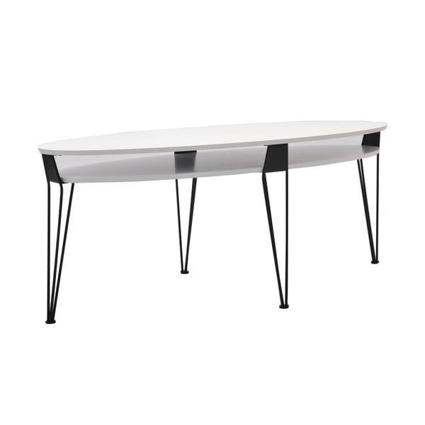 Konferenčný stolík Ester 130x59 cm, čierne nohy