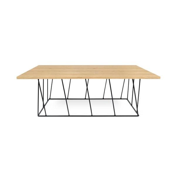 Konferenčný stolík s čiernymi nohami TemaHome Helix, 120cm