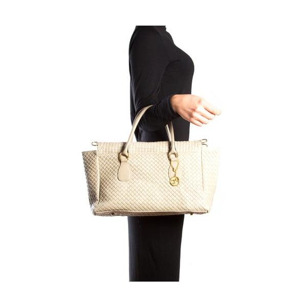 Kožená kabelka Carla Ferreri 8021 Fango