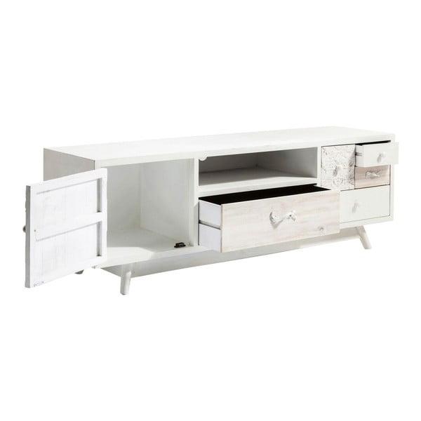 Krémovobiely televízny stolík Kare Design Sweet Home