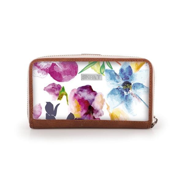 Peňaženka Skpa-T Flower White, 16x9 cm