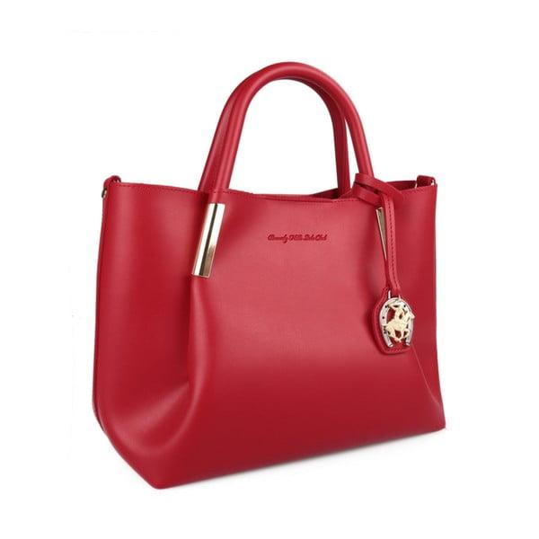 Červená kabelka z eko kože Beverly Hills Polo Club Frederica