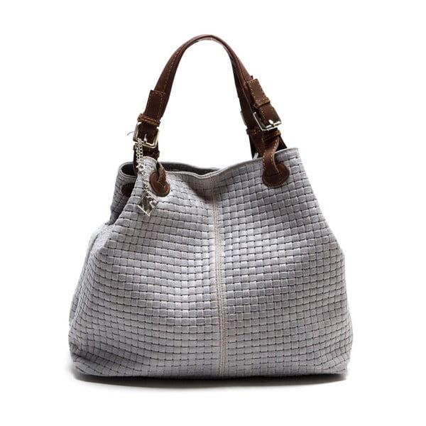 Kožená kabelka Lola, sivá