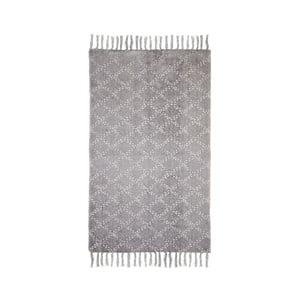 Sivý bavlnený koberec HSM collection Colorful Living Mano, 70×120 cm