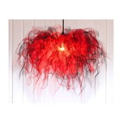 Stropné svetlo Ellen Munter vel. M, červené s čiernym káblom