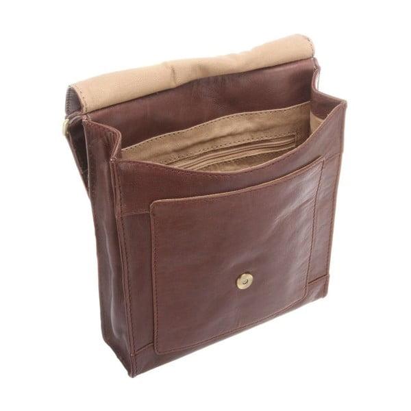 Kožená taška Sephina Conker Brown