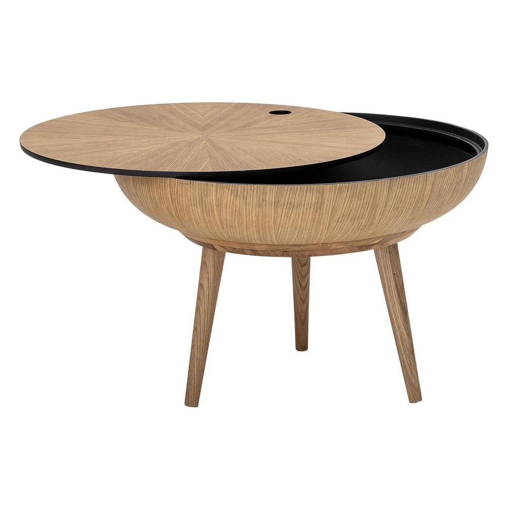 Konferenčný stolík s úložným priestorom a s detailmi z dubového dreva Bloomingville