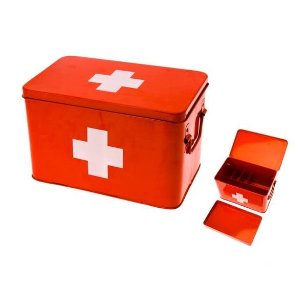 Lekárnička Present Time Medicine Red, malá
