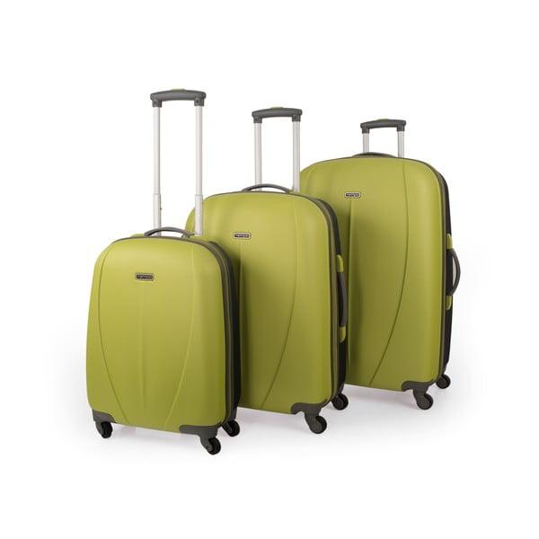 Sada 3 kufrov Tempo, zelená
