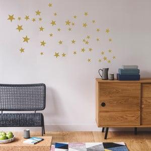 Nástenné samolepky v zlatej farbe Art For Kids Stars