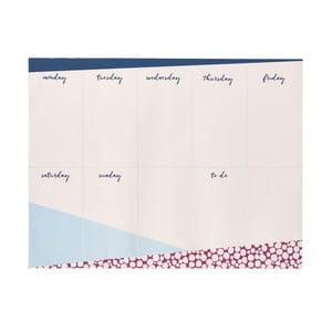 Týždenný plánovač Busy B Contemporary, 60 listov