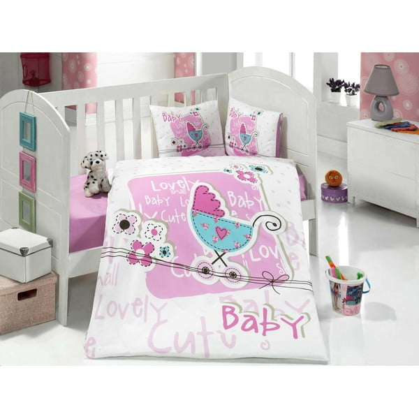 Set detských obliečok a plachty Lovely Baby, 100x150 cm