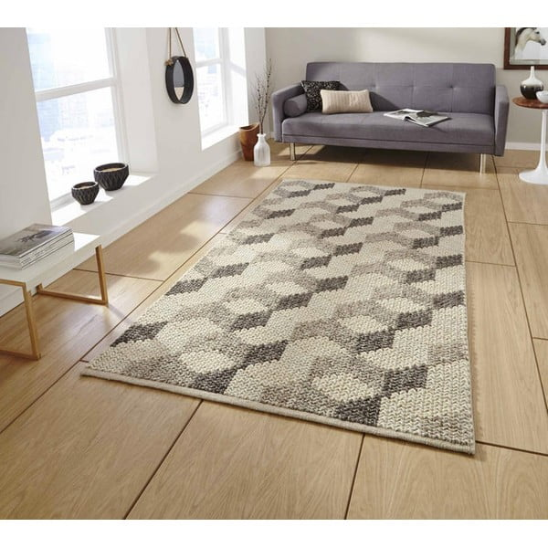 Ručne tkaný koberec Think Rugs Alpha Hex, 120x170cm