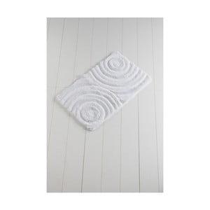 Biela kúpeľňová predložka Confetti Bathmats Wave White, 60 x 100 cm