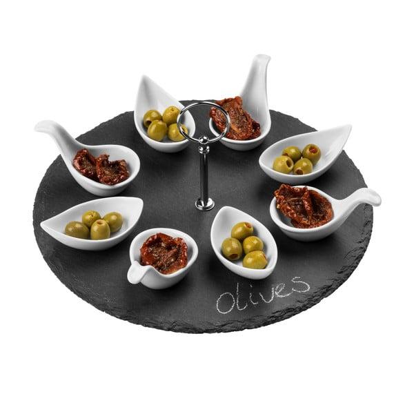 Bridlicový servírovací set Premier Housewares Appetiser Round