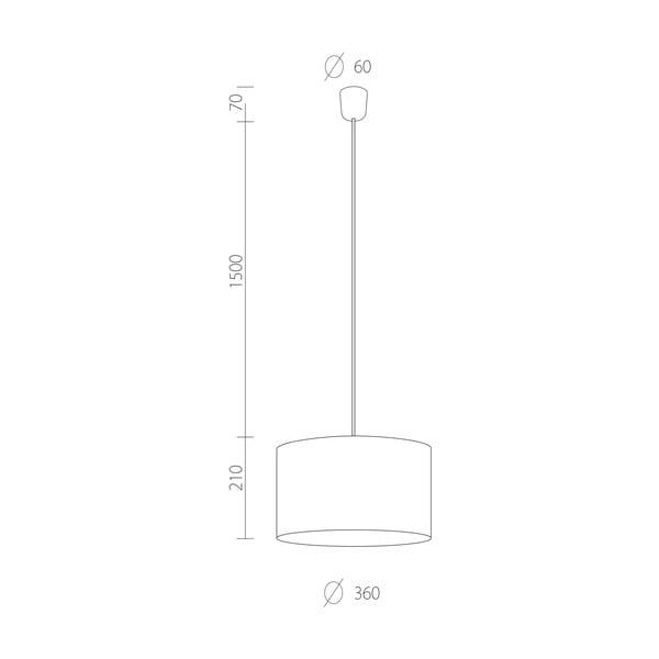 Stropná lampa Tres, čierna/strieborná, priemer 36 cm