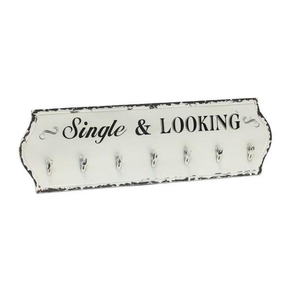 Nástenný vešiak so 7 háčikmi Novita Single Looking