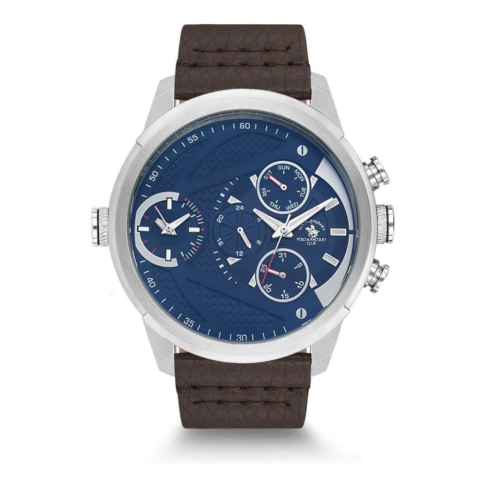 Pánske hodinky s koženým remienkom Santa Barbara Polo & Racquet Club Cody