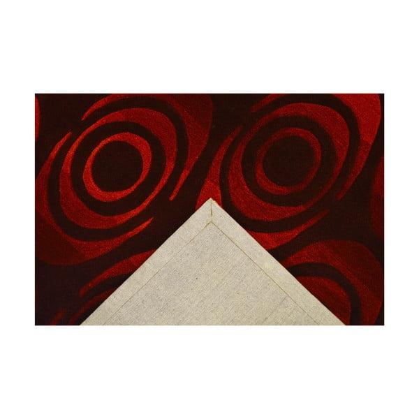 Ručne tkaný koberec Pluto, 120x180 cm, tmavočervený