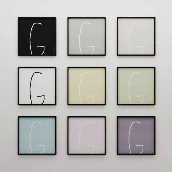 Plagát Litera G, 50x50 cm