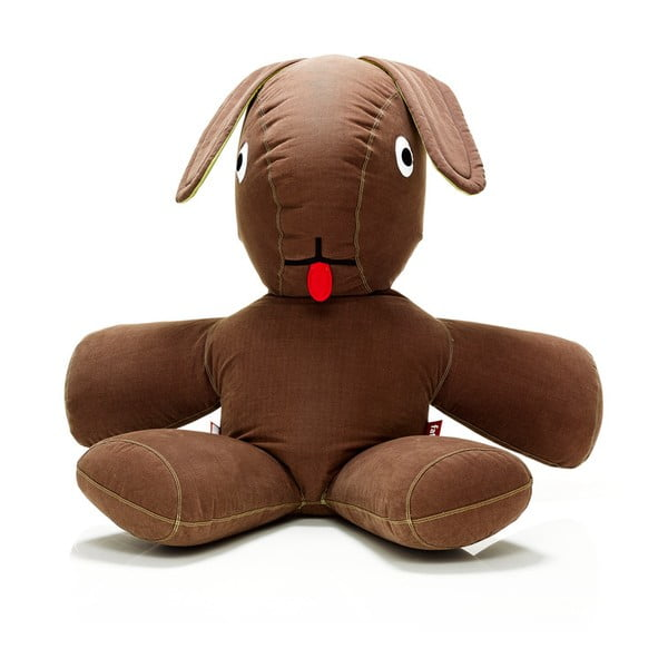 Dvojmetrový hnedý zajac na váľanie Fatboy