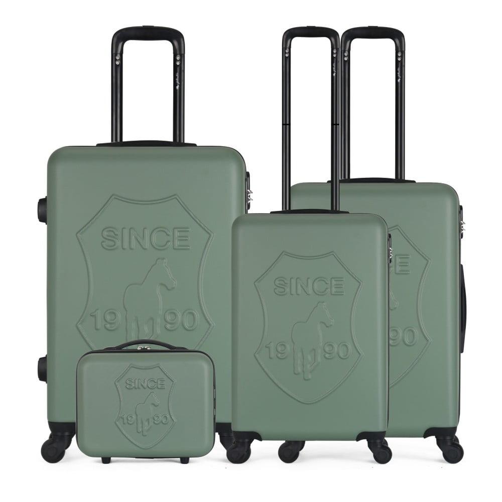 54cffd3697597 Sada 4 zelených cestovných kufrov na kolieskach GENTLEMAN FARMER Integre &  Vanity