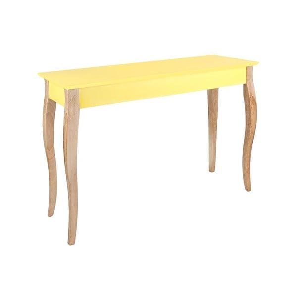 Žltý odkladací konzolový stolík Ragaba Dressing Table, 105x74cm