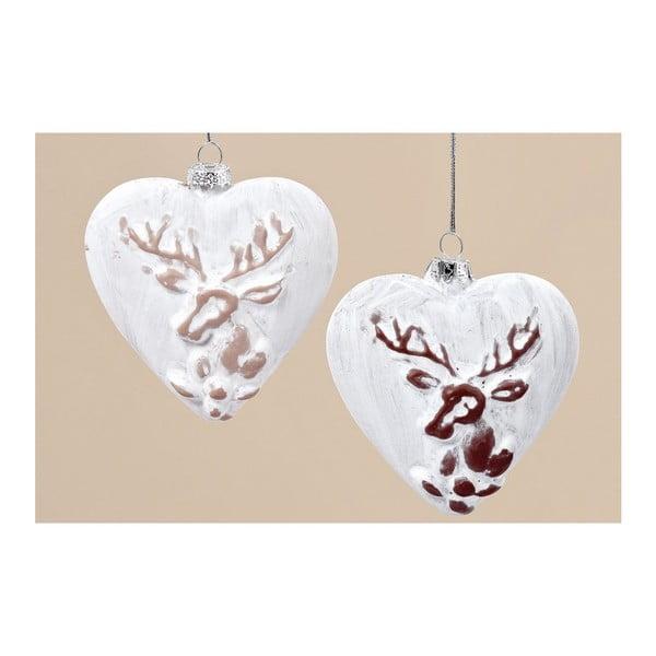 Sada 6 ks závesných dekorácií Winter Heart