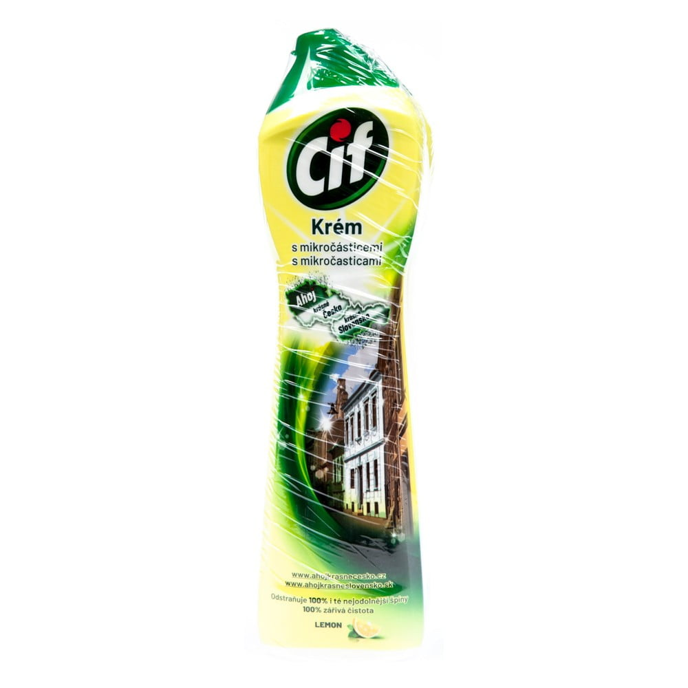 Tekutý piesok do kúpeľne a kuchyne Cif Lemon, 500 ml