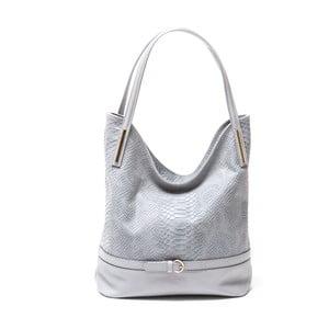 Kožená kabelka Adona, sivá