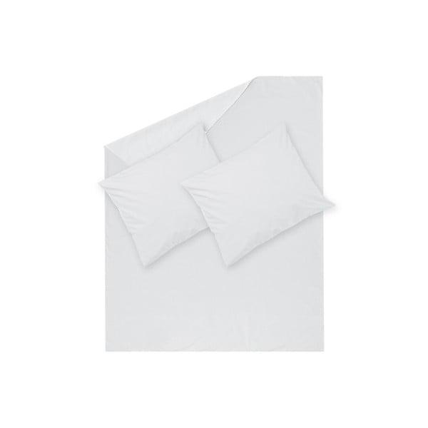 Biele obliečky Hawke&Thorn Parker Simple, 240 x 220 cm + 2 x vankúš 50 x 60 cm