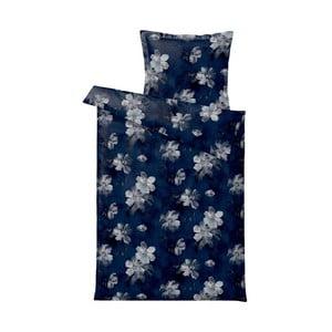 Tmavomodré obliečky Södahl Vintage Bloom, 140 x 200 cm