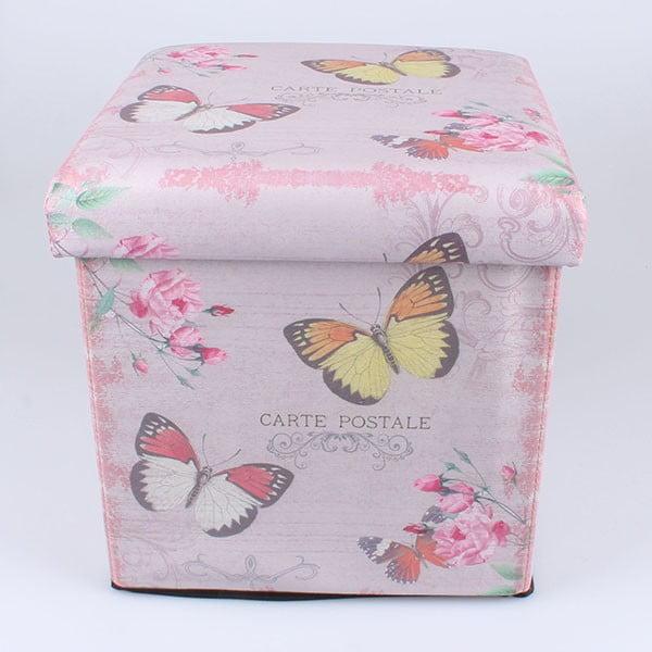 Taburetka s úložným priestorom Butterflies