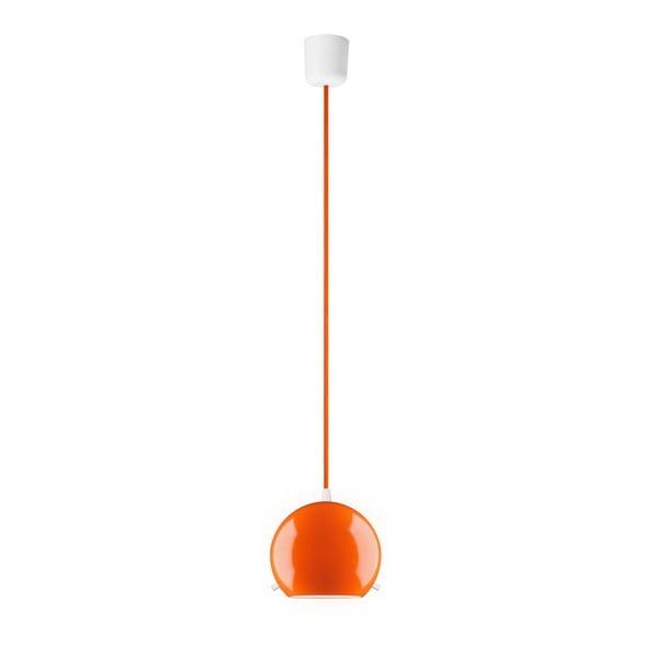 Oranžové lesklé závesné svietidlo Sotto Luce MYOO