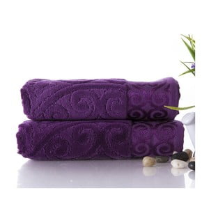 Sada 2 uterákov Hanzade Purple, 50x90 cm