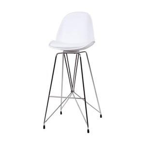 Biela barová stolička sømcasa Brett