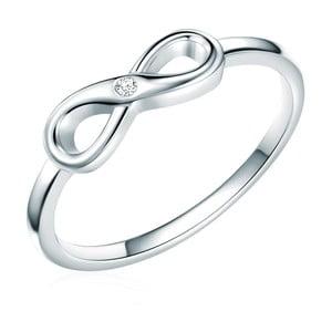 Strieborný prsteň s pravým diamantom Tess Diamonds Callum, veľ. 54