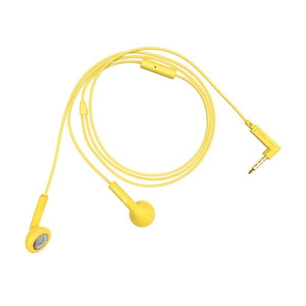 Slúchadlá Happy Plugs, žltá