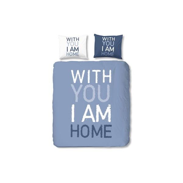 Modré bavlnené obliečky Müller Textiel I'm Home, 140x200cm