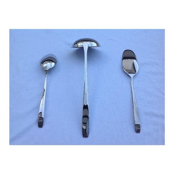 Set 3 servírovacích lyžíc Master Steel