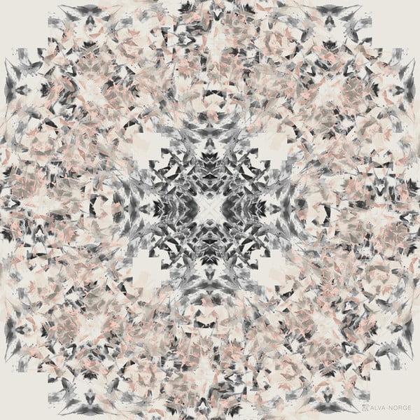 Šatka Lotus Peach, 130x130 cm
