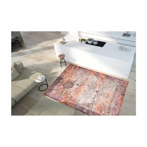 Koberec odolný voči škvrnám Floorita Vintage Beige Orange, 80×150 cm